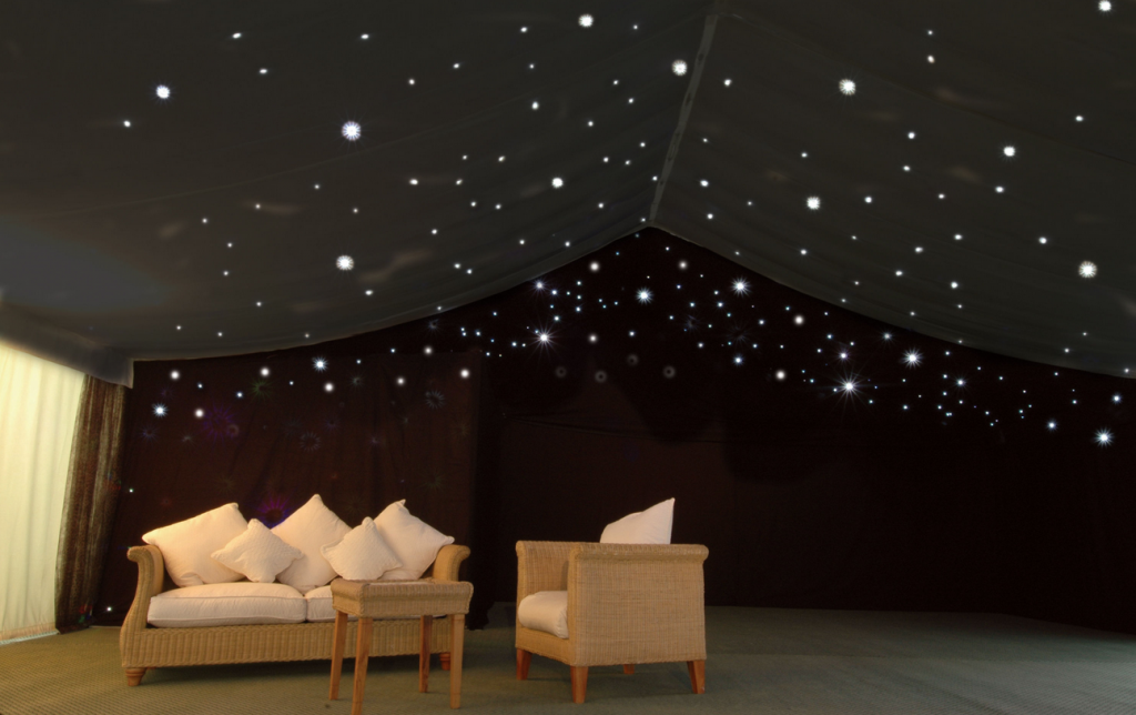 LED starlight barn lining