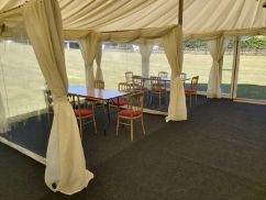commercial marquee hire social distancing